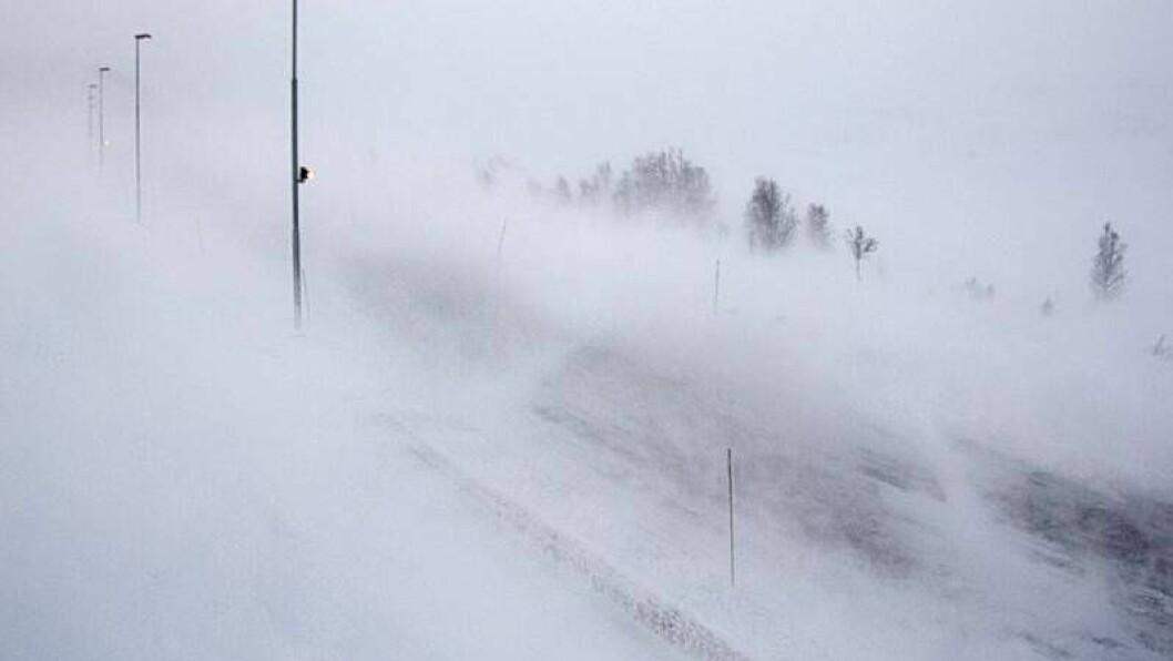 RUSKETE: Slik såg det ut ved Øvre Smedalsvatnet på Filefjell klokka 14:59 onsdag.