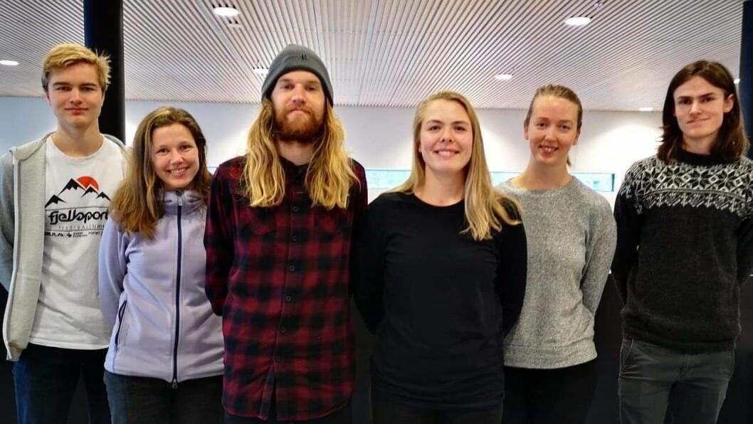 HURRA: Denne gjengen stakk av med sigeren i konkurransen som vart arrangert av Sogn Næring, Kunnskapsparken i Sogn og Fjordane og Fjellsportfestivalen.
