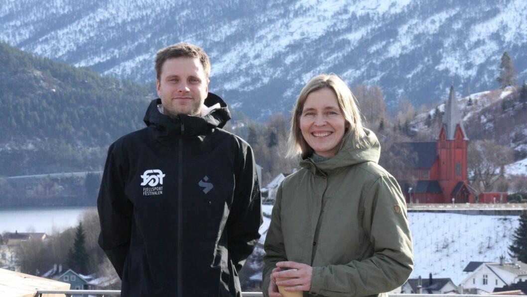 Leiar av Fjellsportfestivalen Stian Hoflundsengen, og Kristin Løseth, Programansvarlig Natur- og opplevingsbasert reiseliv.