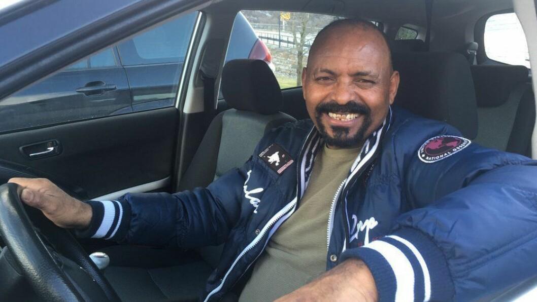 DRAUMEJOBBEN: Gezai Zerahaimanot frå Eritrea, ynskjer seg tilbake til yrket som lastebilsjåfør.