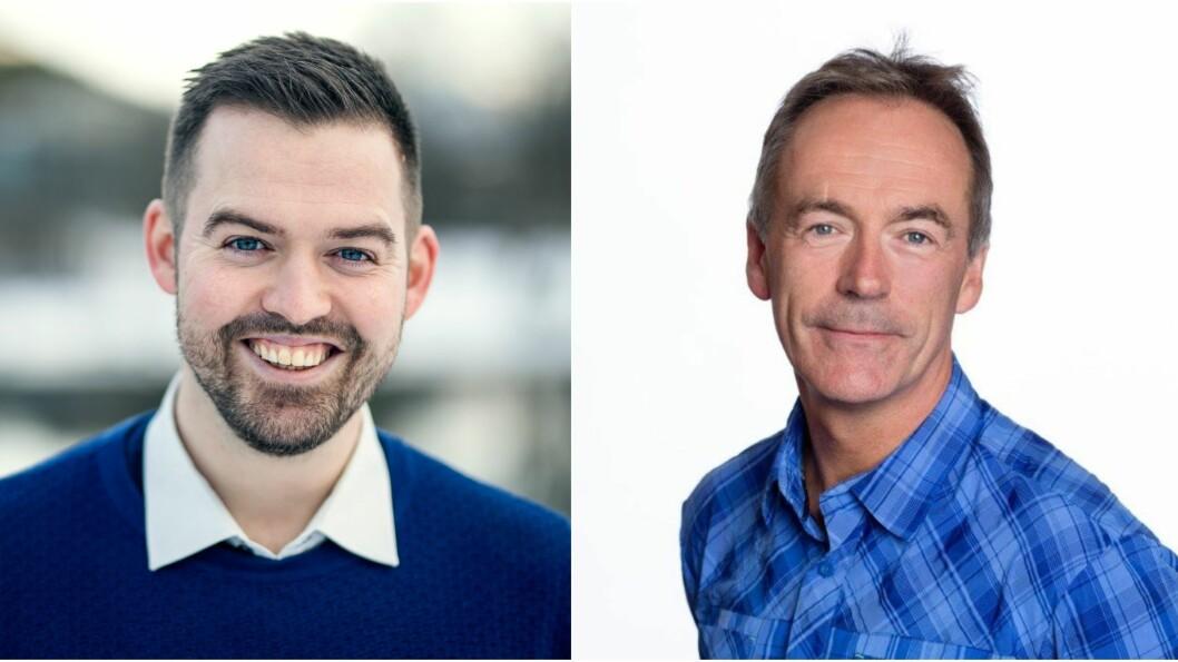 VIL AT FLEIRE VEL YRKESFAG: At du kjem deg raskt ut i arbeid, og unngår stort studielån er to av dei sju gode grunnane til å velje yrkesfag skriv Torbjørn Vereide (t.v) og Roger Pilskog (t.h).