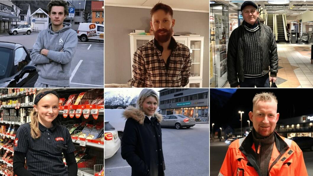 DETTE SEIER FOLK: Norge har innført nokre av dei strengaste restriksjonane i fredstid. Me tok ein tur rundt på gatene i Sogn for å høyra korleis folk taklar den uvande situasjonen.