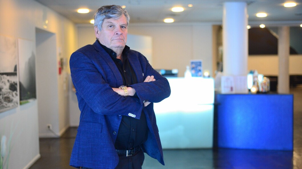 TUNG DAG: Hotelldirektør Jørgen Christian Lindstrøm gav fredag melding til alle tilsette på hotellet om at dei er permitterte.
