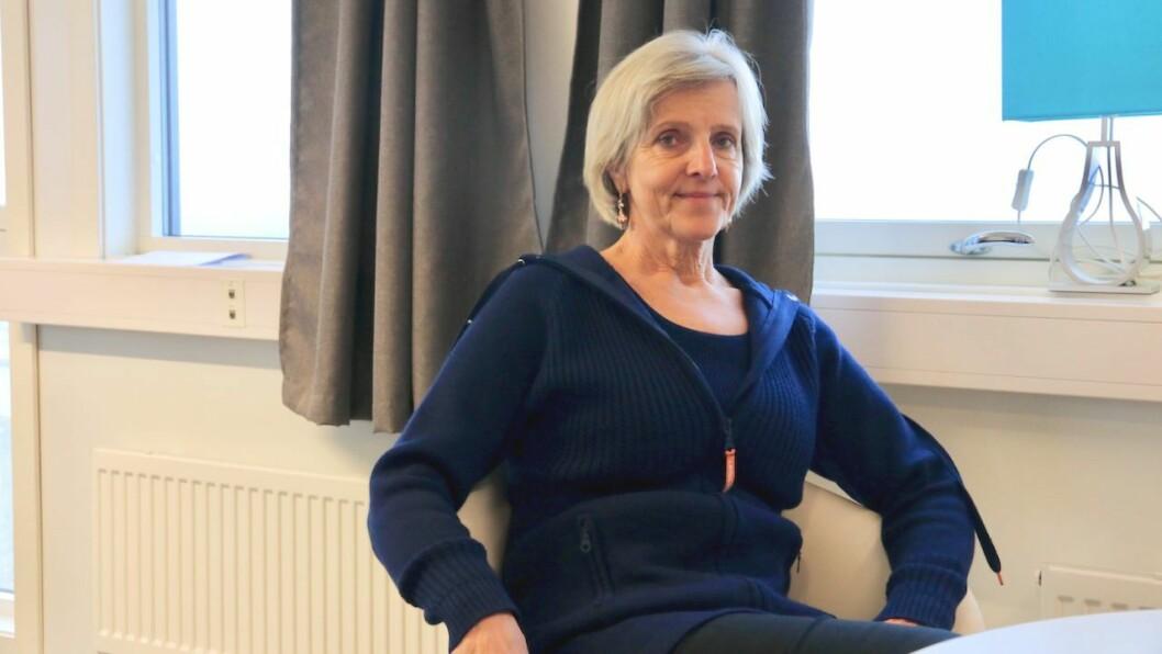PÅVERKA: Også Wergelandgruppa merkar koronasituasjonen. Konsernsjef Irene Wergeland (biletet) og leiinga tek no møte over nettet i staden for over bordet.