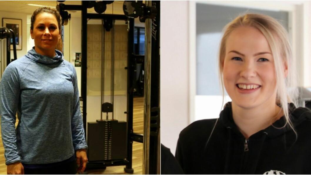 Ramona Szabo(t.v) og Marita Aasen(t.h) håpar at folk vil vera med å støtte treningssentera, sjølv om det er ei vanskeleg tid for alle.
