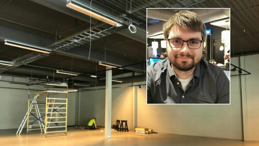 OMVENDT TVILAR: Den nye butikksjefen Svein Sivertsen var i utganspunktet usikker, men etter ein prat vart han imponert over kva kjeda kunne tilby.