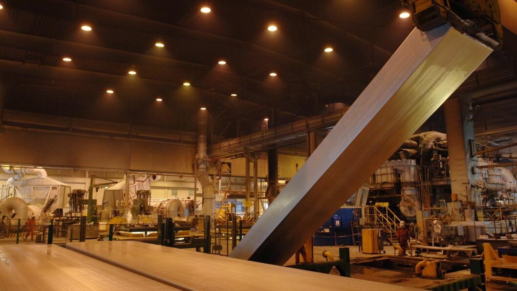 UVISSE: Etterspurnaden etter aluminium er fallande som eit resultat av koronakrisa. Førebels blir ikkje smelteverka i Årdal og Høyanger råka av produksjonskutt.