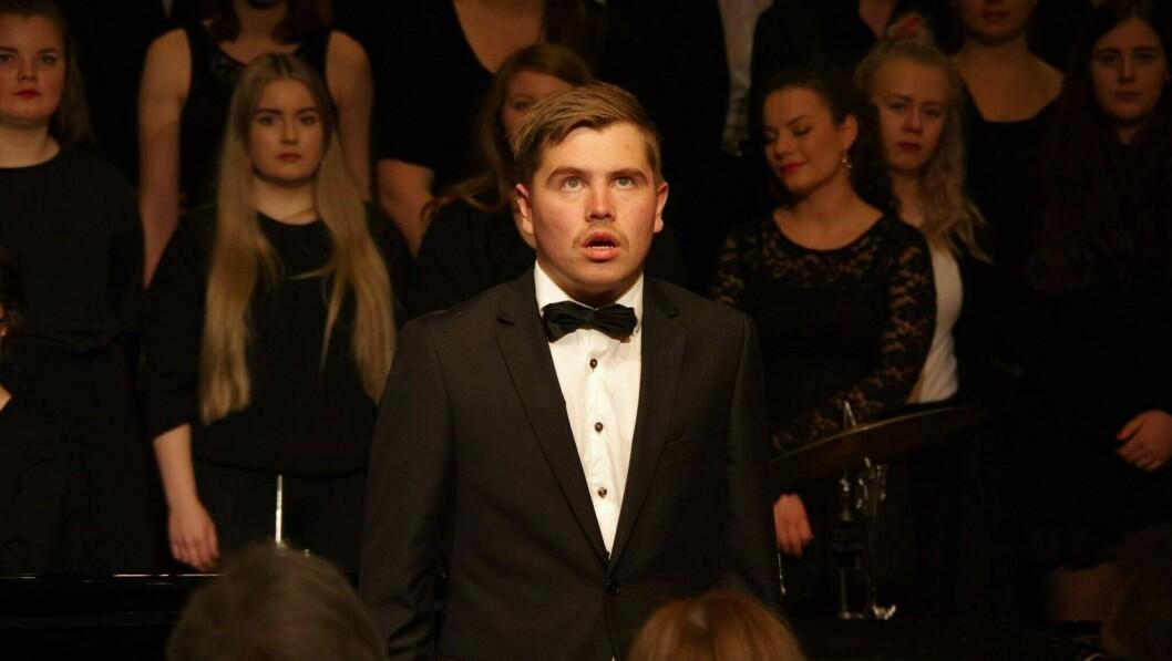 TALENT: Henning Lad trivest best når han får synga klassisk musikk.