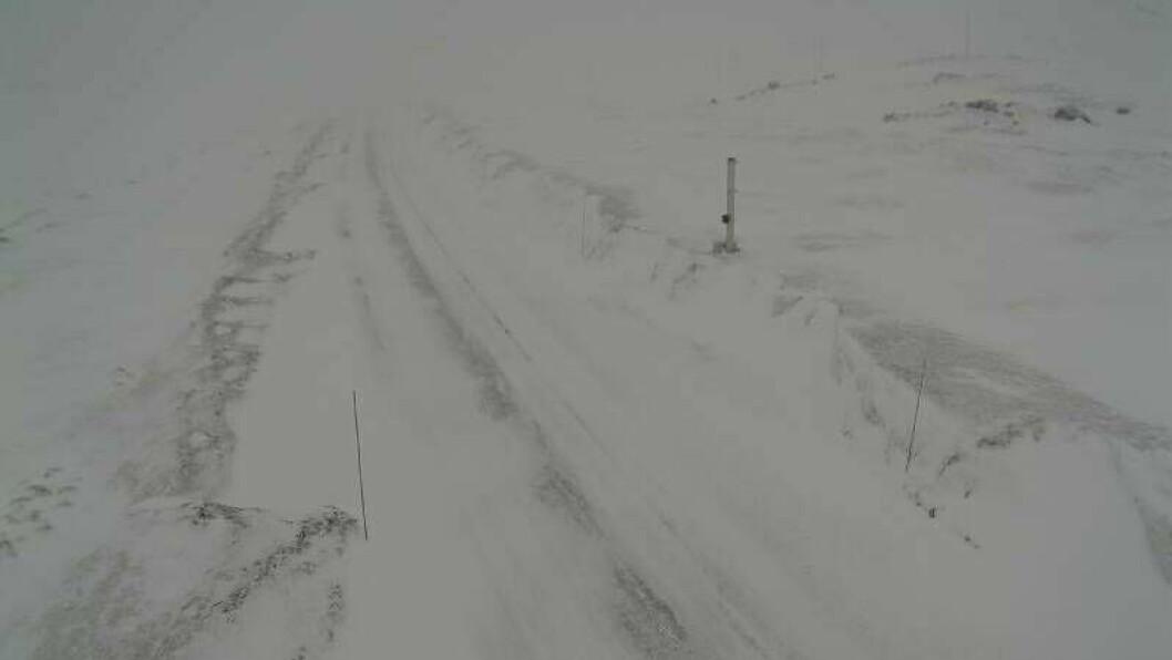 RUFSETE: Slik såg det ut på Hemsedalsfjellet klokka 10:08 torsdag.