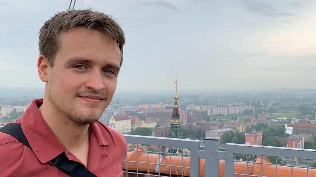 JOURNALISTSTUDENT: Henrik Thorsnes Lefdal frå Gaupne studerer journalistikk i Oslo.