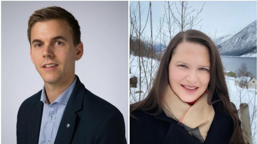Frode Kyrkjebø(t.v) er ny nestleiar, og Christiane Ulriksen(t.h) er ny leiar i IT-Forum Vest