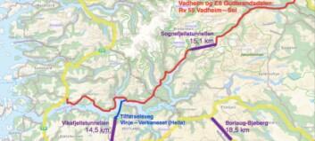 Desse strekningane vil Høgre ha inn i Nasjonal transportplan