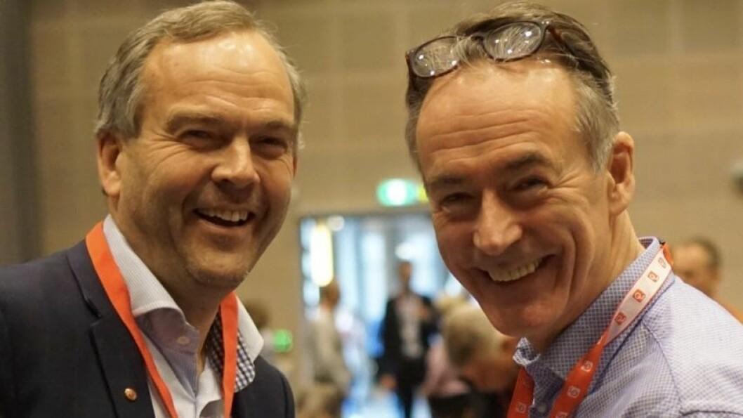 LO VESTLAND: Nils Petter Støyva og Roger Pilskog meiner at kompetanseutvikling er viktig i krisetider.