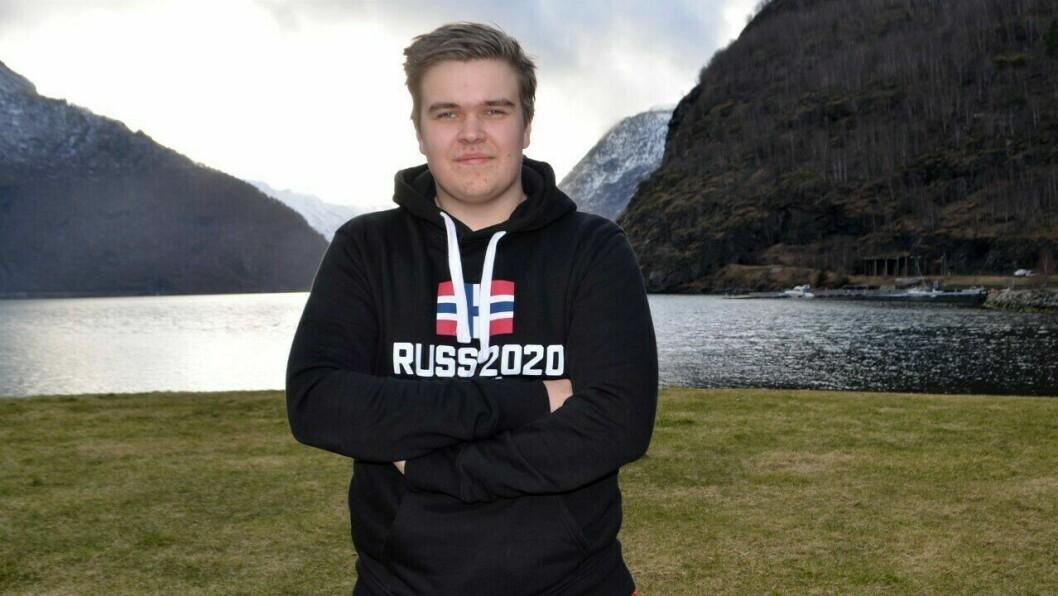 ÅRDALSRUSSEN: Tobias Offerdal Røneid er glad for at dei får lov å gå den tradisjonelle turen frå Årdalstangen til Øvre Årdal.