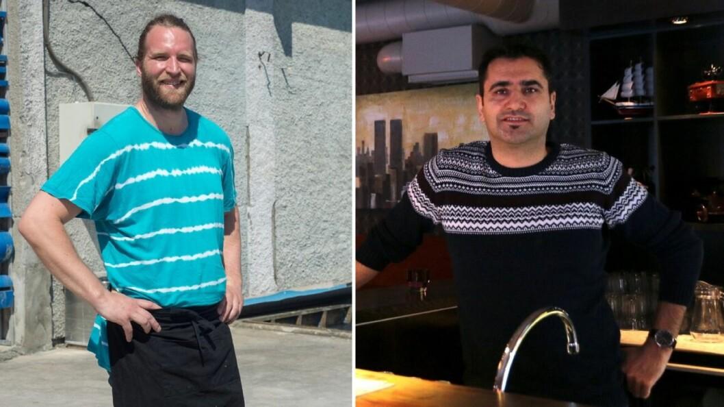 FORSIKTIG START: Kevin Gray (til venstre) i Sogndal og Faruk Yilmaz i Årdal har teke dei første stega mot normalisering etter at koronakrisa starta.