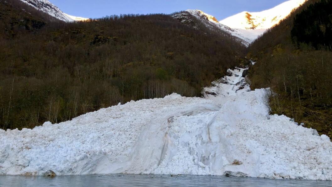 VIKJASKREDA: Det har gått fire snøskred i Vikjaskreda denne våren.
