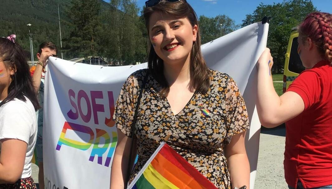 SYNLEGGJERING: Leiar Sandra Edith Tenud i SoFjo Pride meiner at synleggjering er viktig.