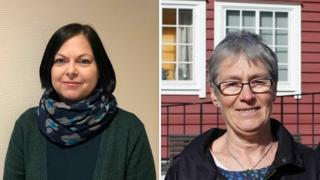 FLYKTNINGAR: Rita Tonning (t.v.) og Ingunn Kandal (t.h.) i Raudt Sogn og Fjordane meiner kommunane i Vestland må ta mot flyktningar frå Moria-leiren i Hellas.