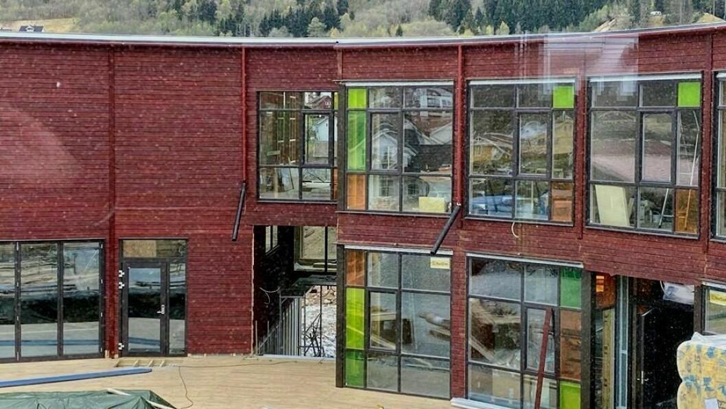 FOSSHAGEN BARNEHAGE: Bygginga av den nye barnehagen har god framdrift.
