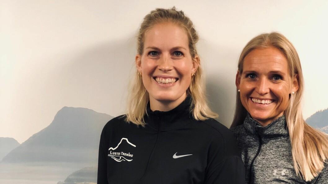 LUSTER TRENING: Marita Kveane og Jori Skorve gler seg til å opne dørene att (Bildet er teke før avstandsregelen).