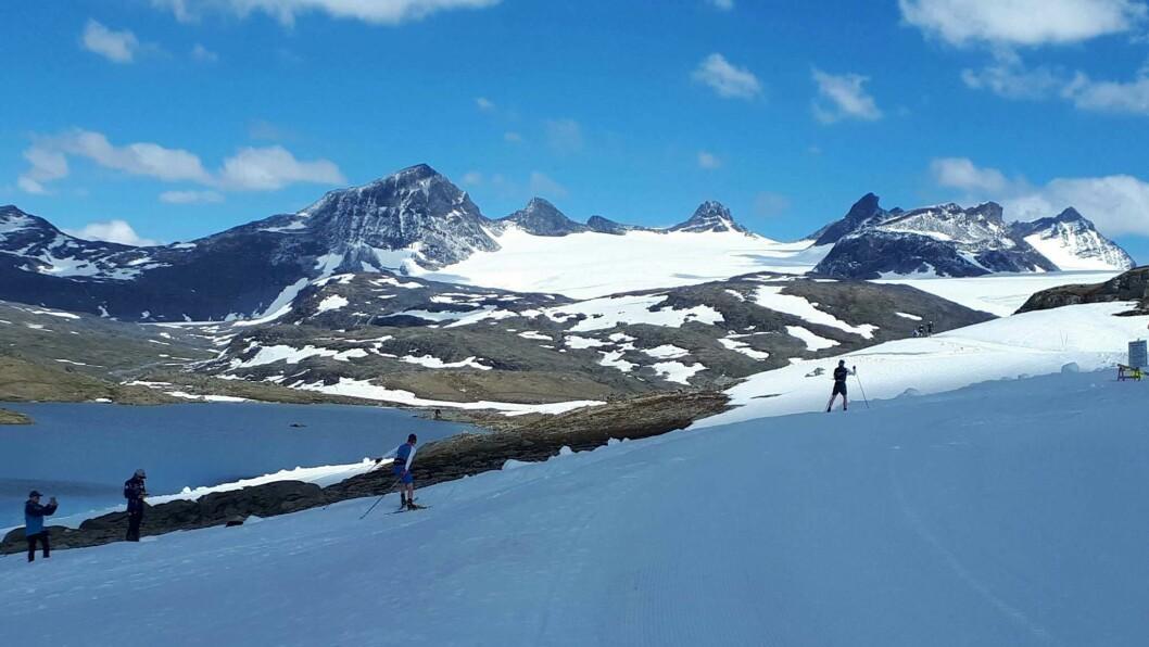 SOGNEFJELLET SOMMERSKISENTER: Gode skiforhold på Sognefjellet, her frå 2018.