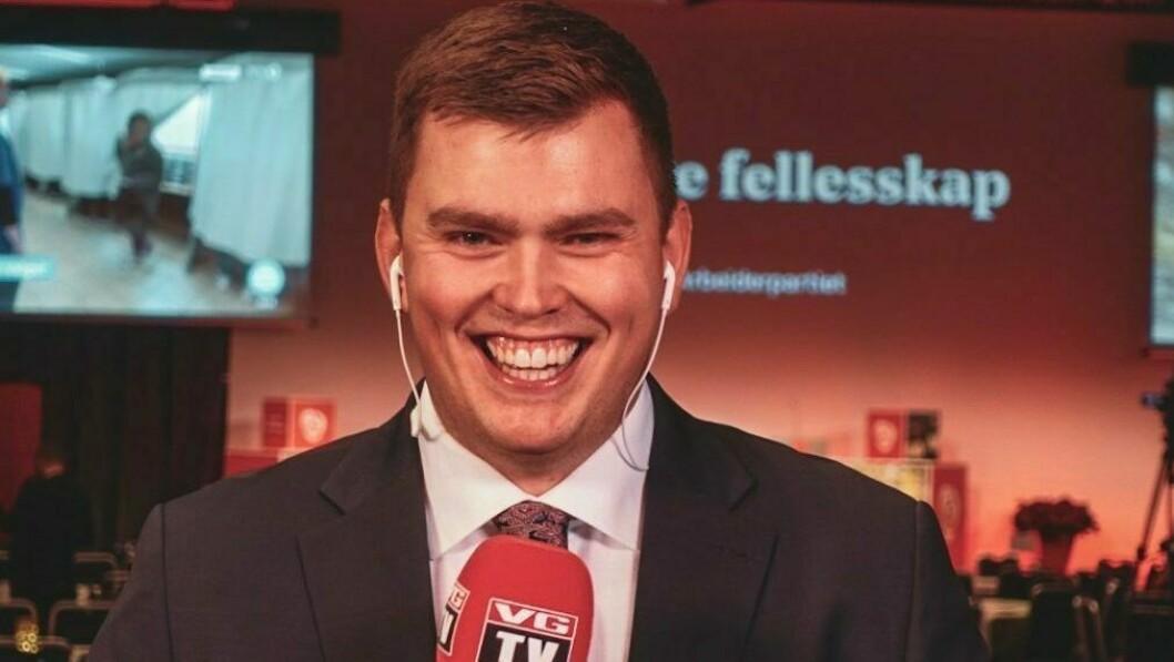 BLID: Stig Øystein Schmidt på jobb for VG under valet i fjor.