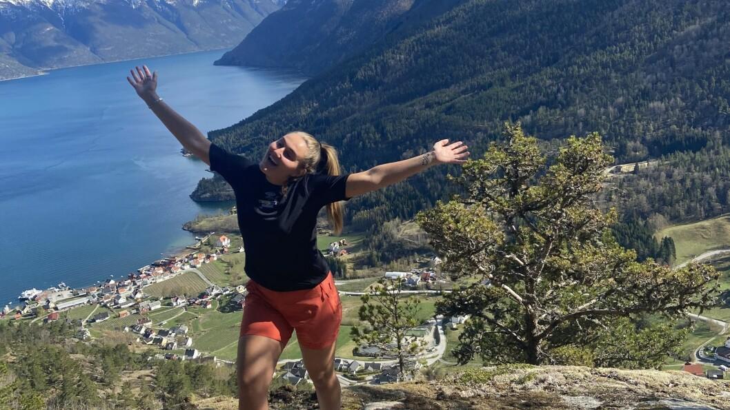 NI KJAPPE: Siri Sandvik elskar fjell og trening.