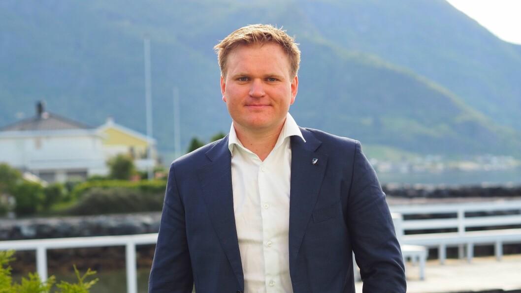 KRISEPAKKE: Aleksander Heen, gruppeleiar for Senterpariet på Fylkestinget, krev at regjeringa kjem med ei krisepakke til fylka.