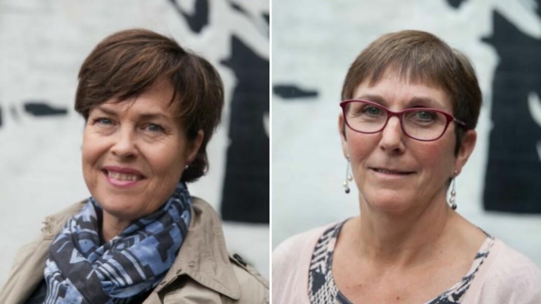 DELER ANSVARET: Margun Thue (t.v) og Tone Holvik (t.h) skal saman ha ansvar for å følgje opp samhandlinga med kommmunane i Helse Førde.
