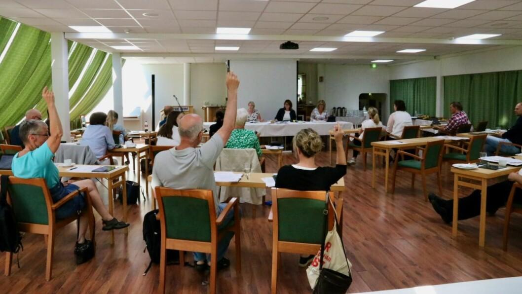 VILLE HA ENDRING: Berre Raudt og SV stemde for tilrådinga til rådmannen om å leggje nærings- og tiltaksarbeidet inn under kommuneadministrasjonen.