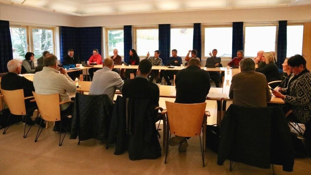 SAMDE: Kommunestyret i Gulen klarte å bli samde om eit felles forslag i saka om vassforsyninga til Skipavika næringspark.
