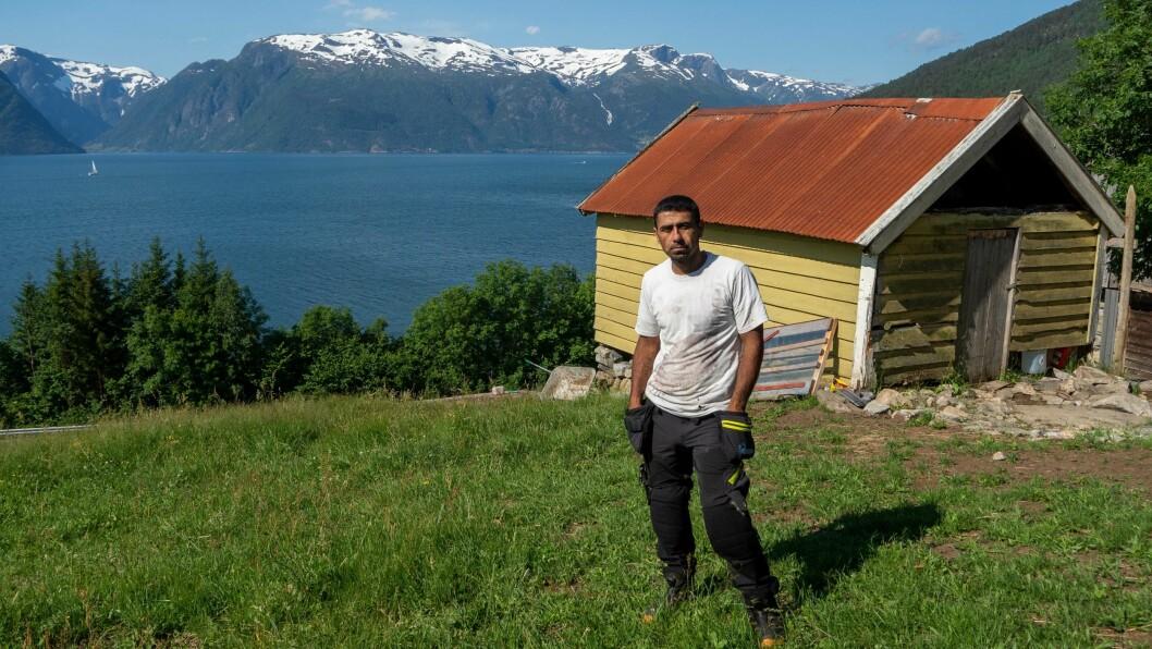 BONDE: Yahya Zaki Al Haj Ali kom til Norge i 2014, i 2018 starta han gardsdrifta på Lindehagen