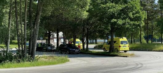 Bil køyrde i ein annan bakfrå i Balestrand