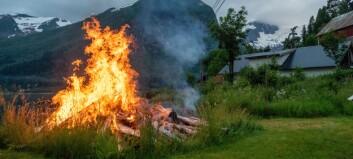 Dette må du hugsa på om du skal brenne jonsokbål