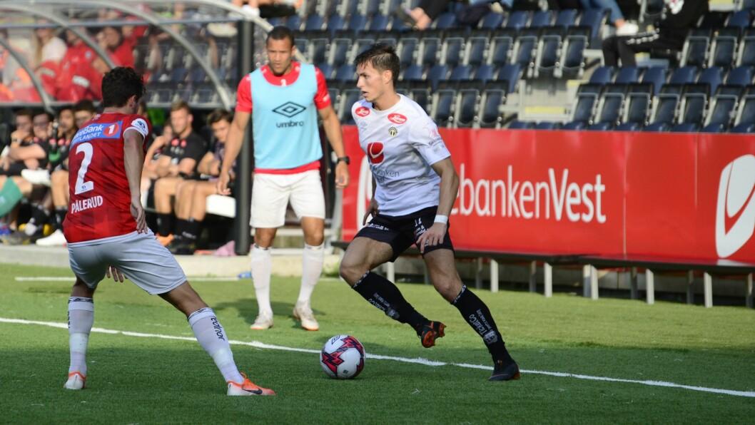 MÅL: Andreas Hoven skåra i opningskampen i OBOS-ligaen, hans tredje for Sogndal sidan overgangen i fjor sommar.