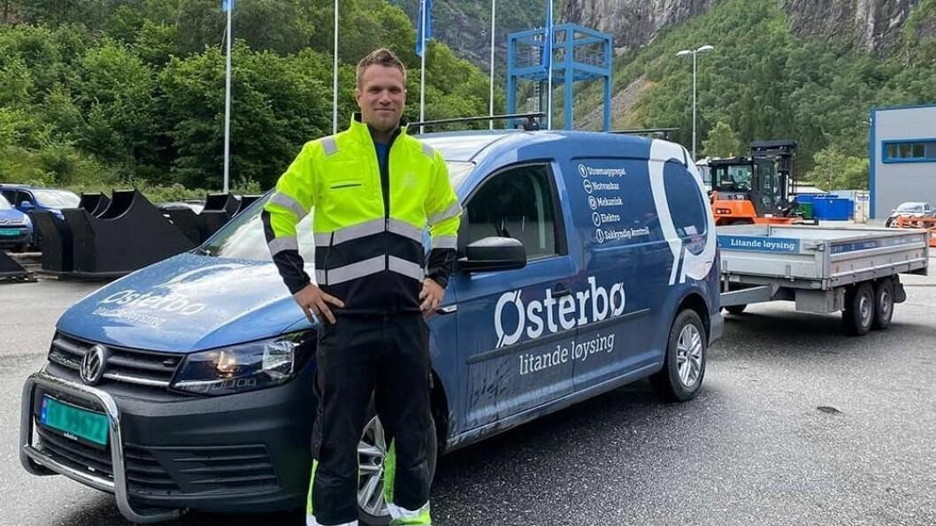 PRODUKSJONSLEIAR: Mathijs van der Veldt er ny produksjonsleiar på verkstaden på Østerbø.