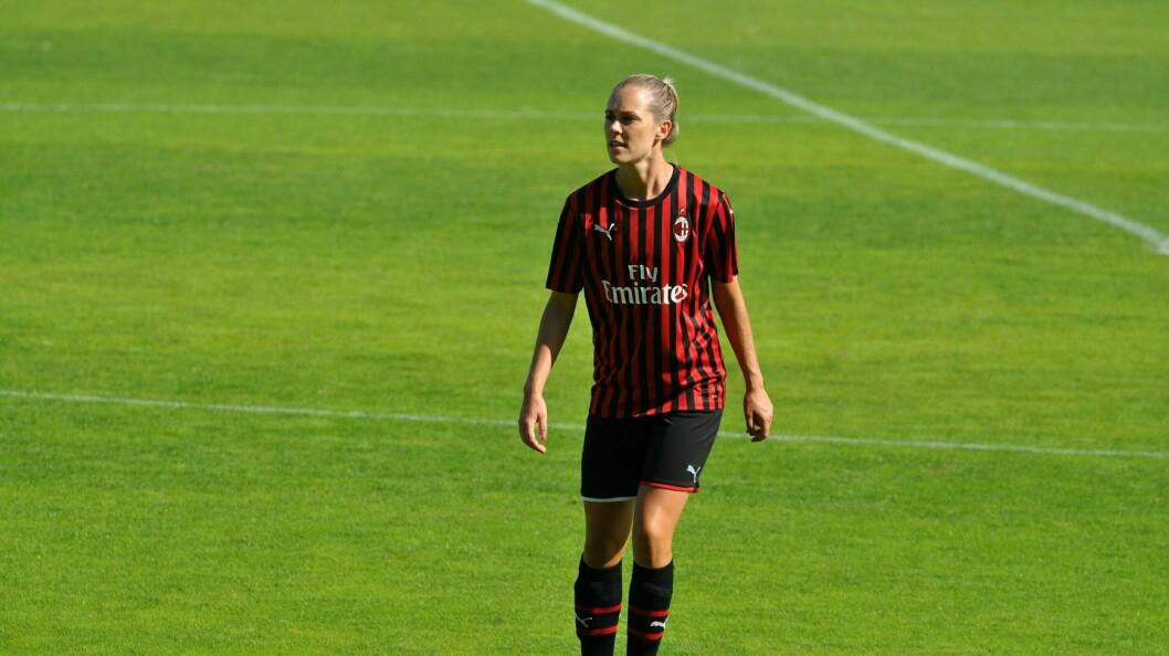 GÅR VIDARE: Stine Hovland går vidare og forlet den italienske klubben AC Milan.
