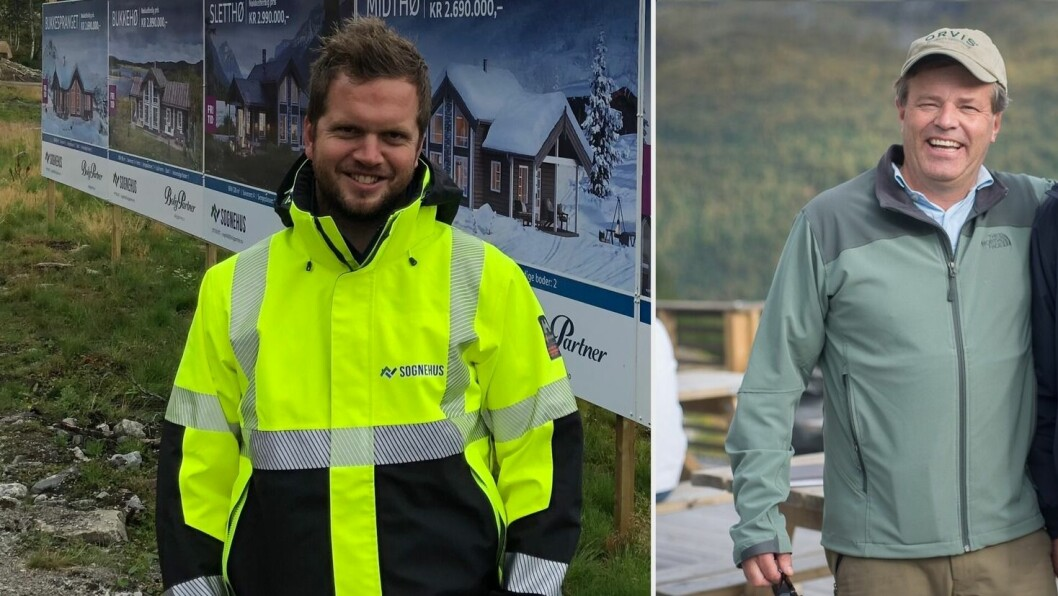 OPPTUR: Terje Thorsnes i Sognehus og Jomar Haukås i Sognefjorden Utvikling merkar begge at interessa for Hodlekve har fått ein oppsving som følgje av koronakrisa.
