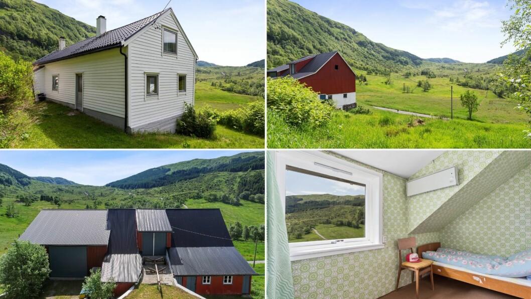 – Eigedommen ligg innerst i ein koselig dal med tett skog og fjell utanfor døra, men samtidig kort veg tilEivindvik og Dalsøyra, seier meklaren.