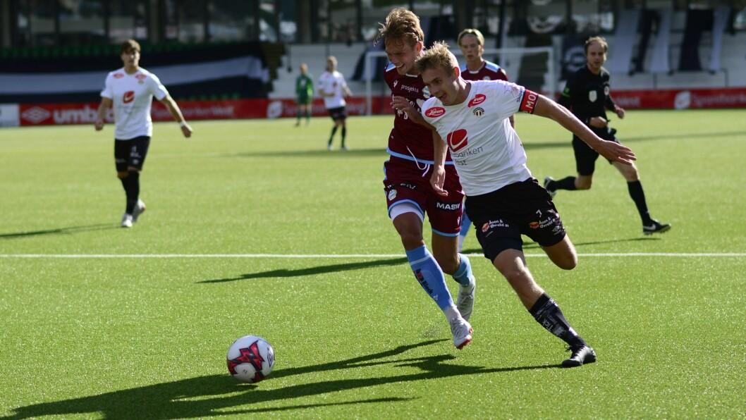 I FARTA: Sivert Mannsverk var ein av få som leverte til godkjent for heimelaget i tapet mot Sandnes Ulf måndag.