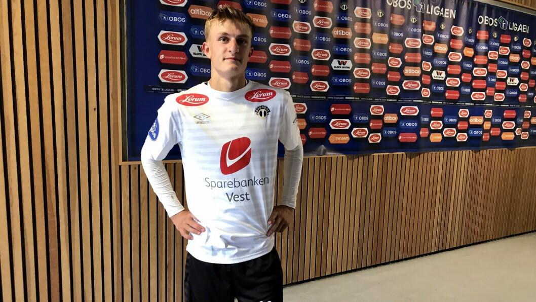GOD: Anders Johannessen Nord (19) sette preg på kampen etter innhoppet, men det var ikkje nok til å snu oppgjeret.