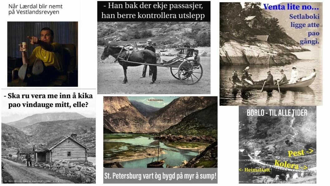 HISTORISK MORO: På kontoen vert det brukte både moderne og historiske bileteformat.
