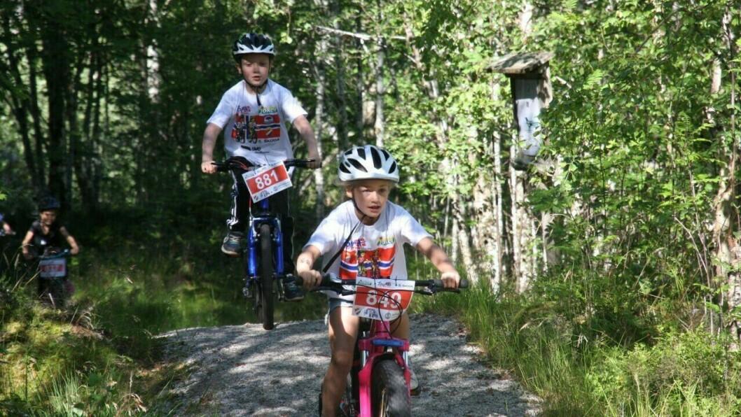 ULIKE KLASSAR: Dei fire ulike puljene var trehjulsykkel og støttehjul,5-6 år, 7-8 år og 9-12 år.