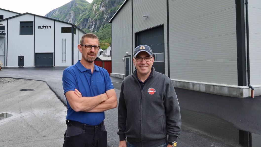 NYE TIDER: Kjetil Rørtveit (t.v) saman med tidlegare dagleg leiar, Erik Osland.