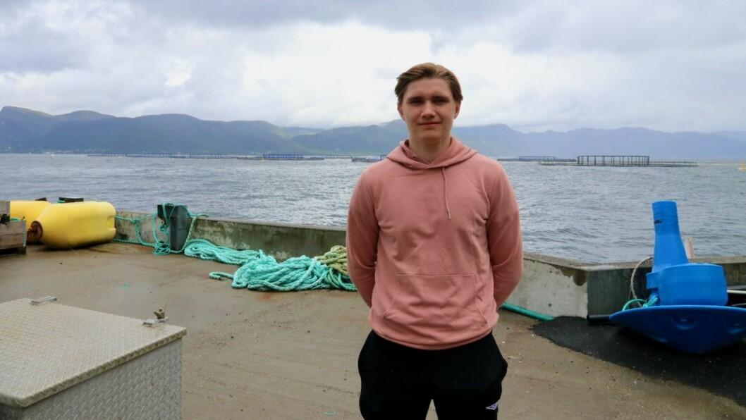 AKTIV: Henrik Oppedal (18) tykkjer det er kjekt å bruke sommaren på noko anna enn å berre sitje heime og late seg.