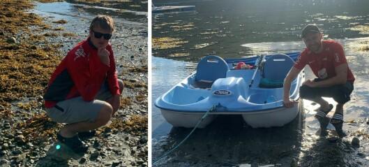 Kompisane skulle padle pedalbåt frå Luster til Lavik: – Me skjønnte allereie fyrste timen at det ikkje kom til å gå