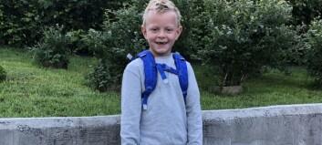 Ingar (6) har hatt sin fyrste skuledag i dag