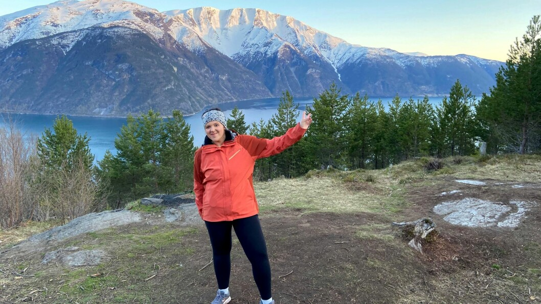 GLAD: Marie Madocs Moen trivst både i naturen og med trening no.
