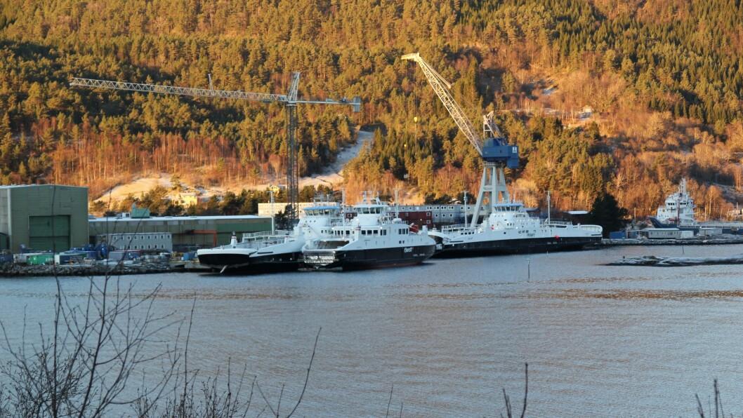 ENDRING: Skipsverftet i Leirvik gjer endringar i verksemda si.