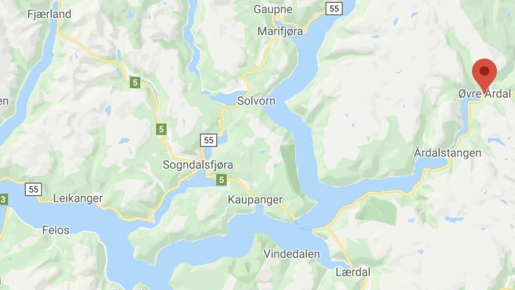 ANGREP: Hendinga skal ha skjedd i Øvre Årdal.